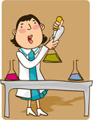 Chemistry technician cartoon