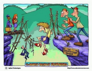 Rope bridge cartoon